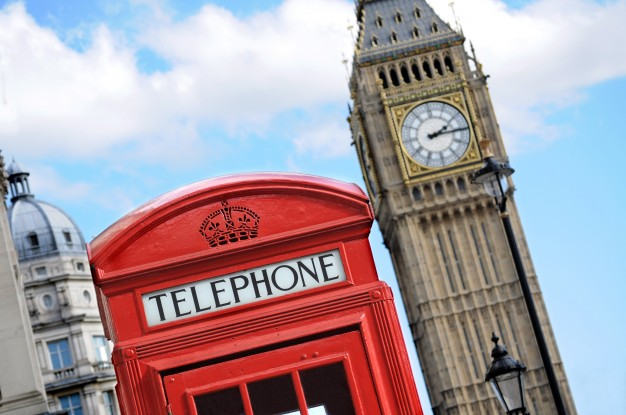 red telephone box and big ben in london 1147 96